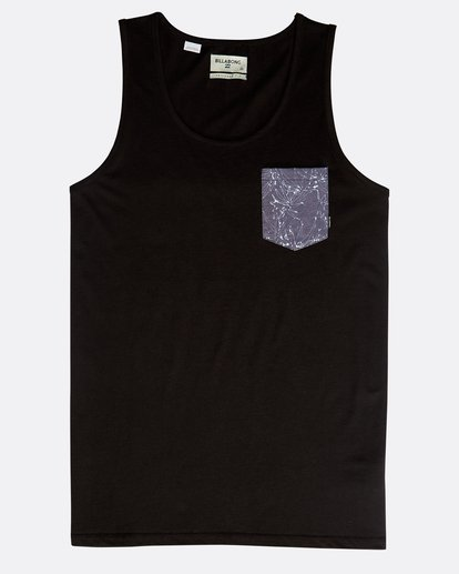 0 All Day Printed Tank Top Schwarz N1JE01BIP9 Billabong
