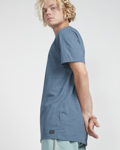 2 All Day Crew T-Shirt Blue N1JE04BIP9 Billabong