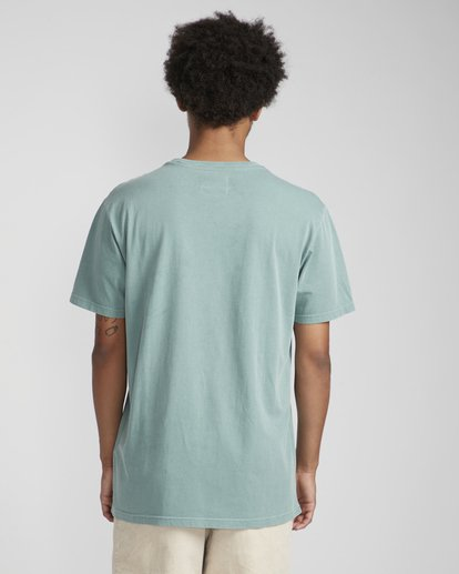 4 All Day Washed Crew T-Shirt Verde N1JE05BIP9 Billabong