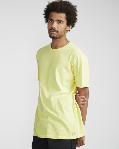 1 All Day Washed Crew T-Shirt Jaune N1JE05BIP9 Billabong