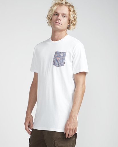 4 All Day Printed Crew T-Shirt Weiss N1JE06BIP9 Billabong