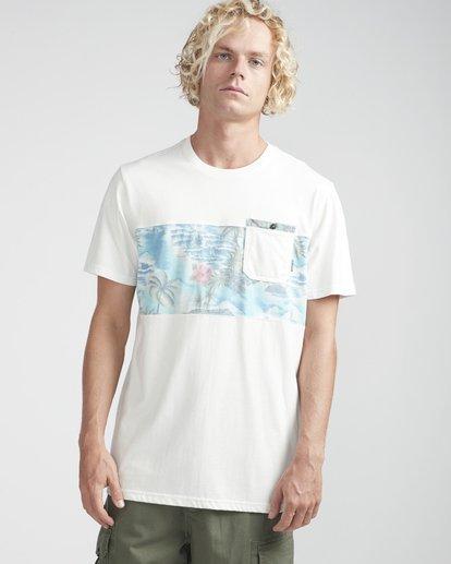 3 Tribong Crew T-Shirt Beige N1JE08BIP9 Billabong