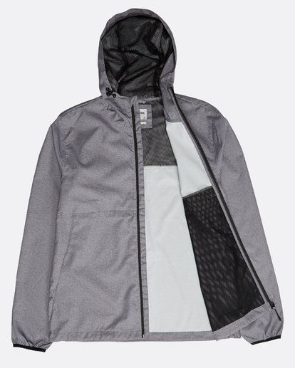 2 Transport Windbreaker Jacket Grau N1JK01BIP9 Billabong