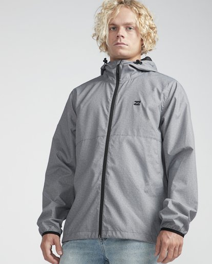 4 Transport Windbreaker Jacket Grau N1JK01BIP9 Billabong