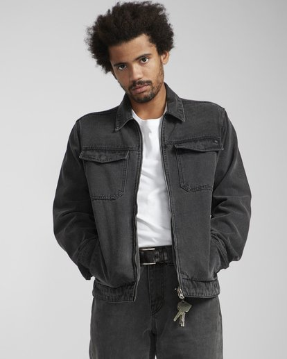 2 Barlow Lite Denim Jacket Noir N1JK06BIP9 Billabong