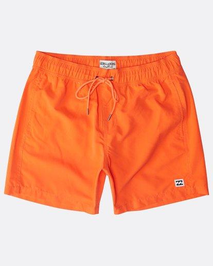 "8 All Day Laybacks 16"" Boardshorts Orange N1LB01BIP9 Billabong"