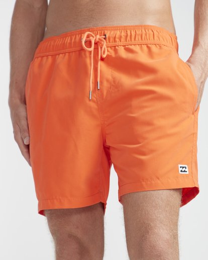 "2 All Day Laybacks 16"" Boardshorts Orange N1LB01BIP9 Billabong"