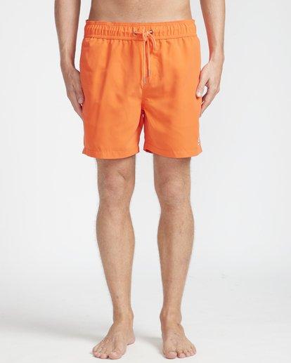 "4 All Day Laybacks 16"" Boardshorts Orange N1LB01BIP9 Billabong"