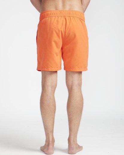 "7 All Day Laybacks 16"" Boardshorts Orange N1LB01BIP9 Billabong"