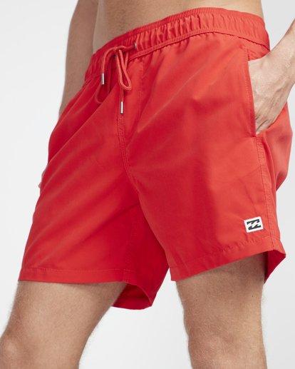 "2 All Day Laybacks 16"" Boardshorts Rojo N1LB01BIP9 Billabong"