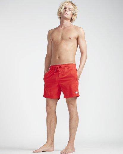 "3 All Day Laybacks 16"" Boardshorts Rojo N1LB01BIP9 Billabong"