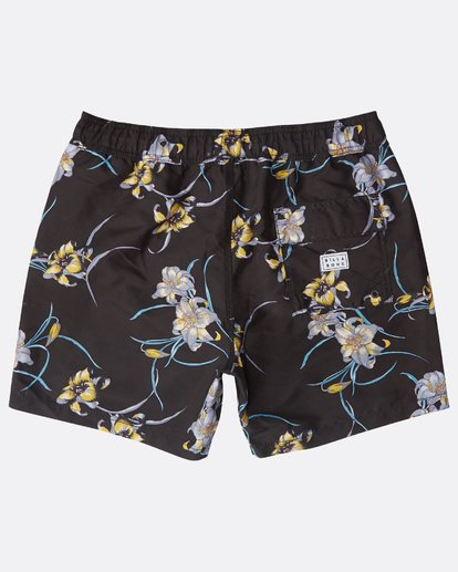 "1 All Day Floral Laybacks 16"" Boardshorts Schwarz N1LB02BIP9 Billabong"