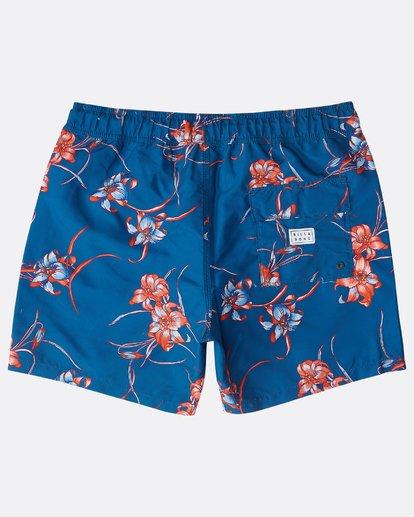 """1 All Day Floral Laybacks 16"""" Boardshorts Azul N1LB02BIP9 Billabong"""