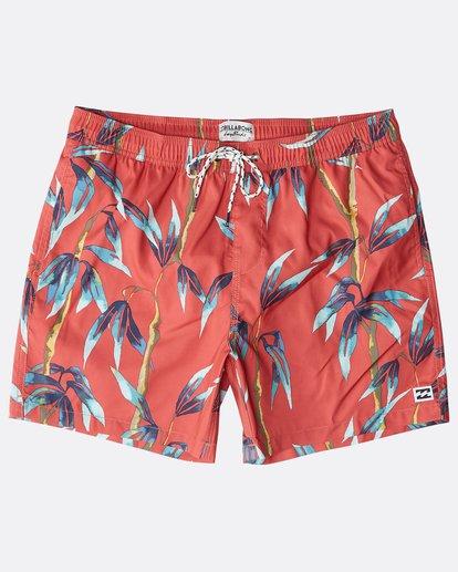 """8 Sundays Laybacks 16"""" Boardshorts Rojo N1LB04BIP9 Billabong"""