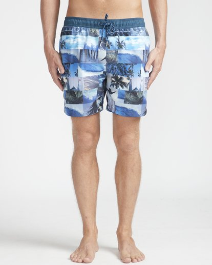 "4 Sundays Laybacks 16"" Boardshorts Azul N1LB04BIP9 Billabong"