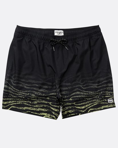"0 Fifty 50 Stretch Laybacks 16"" Boardshorts Schwarz N1LB11BIP9 Billabong"