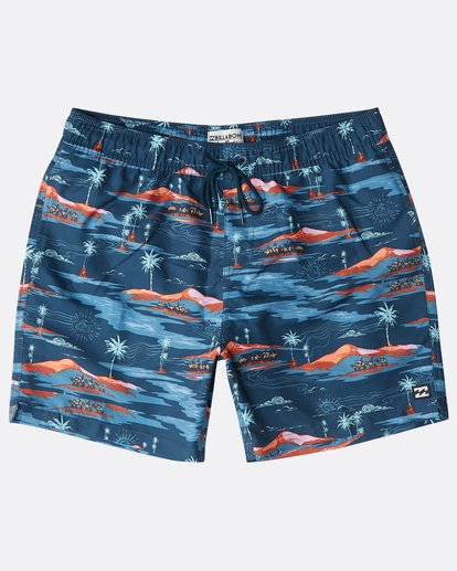"0 Sunday Pigment Laybacks 16"" Boardshorts Azul N1LB17BIP9 Billabong"