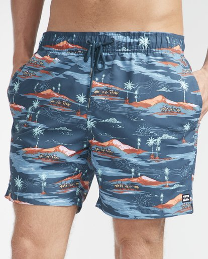 "2 Sunday Pigment Laybacks 16"" Boardshorts Azul N1LB17BIP9 Billabong"