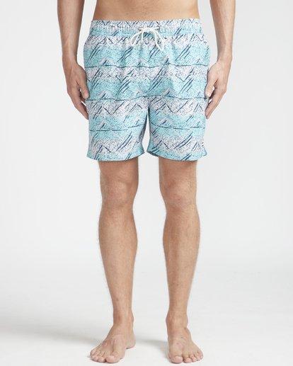 """4 Sunday Pigment Laybacks 16"""" Boardshorts Azul N1LB17BIP9 Billabong"""