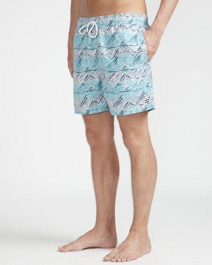 """5 Sunday Pigment Laybacks 16"""" Boardshorts Azul N1LB17BIP9 Billabong"""