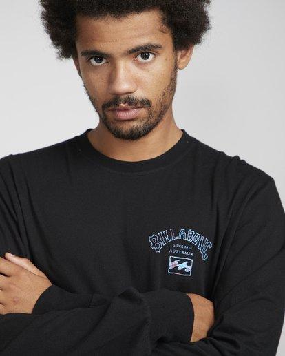 3 Archfire Long Sleeve T-Shirt Schwarz N1LS03BIP9 Billabong