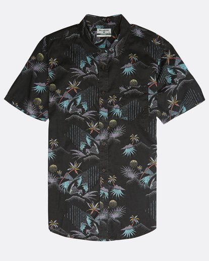 0 Sundays Floral Shirt Black N1SH02BIP9 Billabong