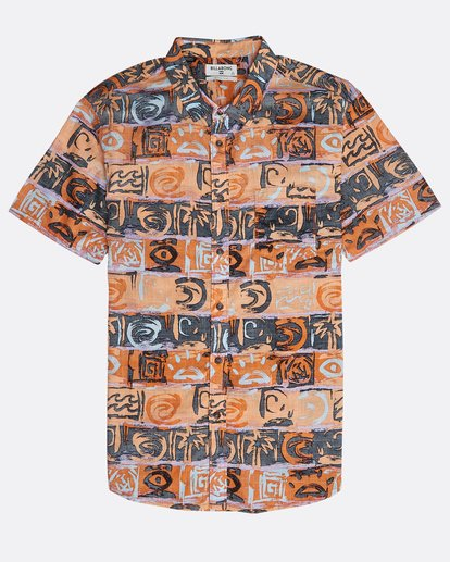 0 Sundays Floral Shirt Orange N1SH02BIP9 Billabong