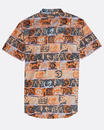 1 Sundays Floral Shirt Orange N1SH02BIP9 Billabong