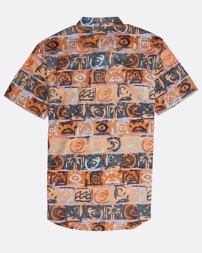 1 Sundays Floral Shirt Naranja N1SH02BIP9 Billabong