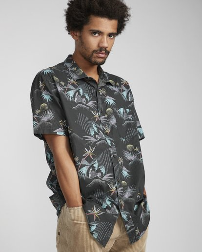 2 Sundays Floral Shirt Black N1SH02BIP9 Billabong