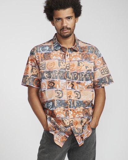 3 Sundays Floral Shirt Naranja N1SH02BIP9 Billabong