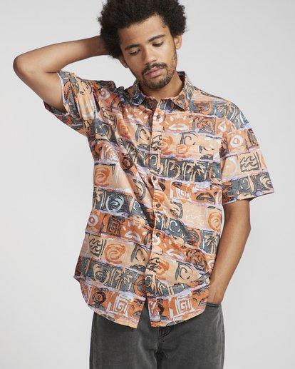 4 Sundays Floral Shirt Naranja N1SH02BIP9 Billabong