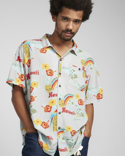 3 Vacay Print Shirt Beige N1SH03BIP9 Billabong