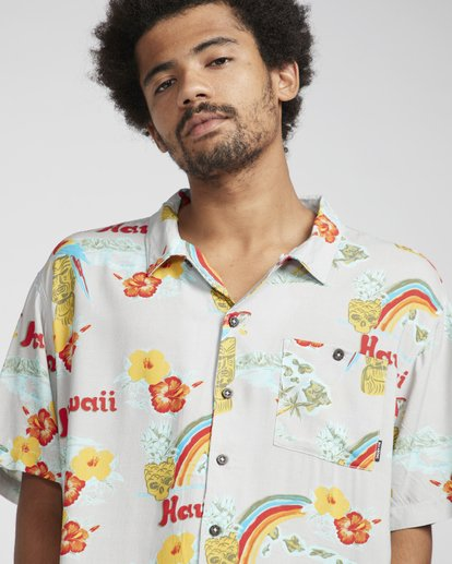 4 Vacay Print Shirt Beige N1SH03BIP9 Billabong