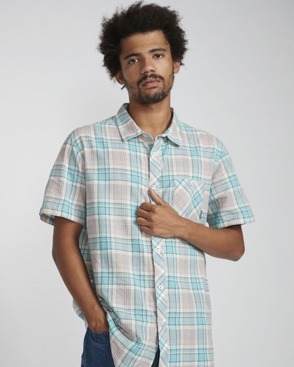 3 All Day Check Shirt Purple N1SH04BIP9 Billabong