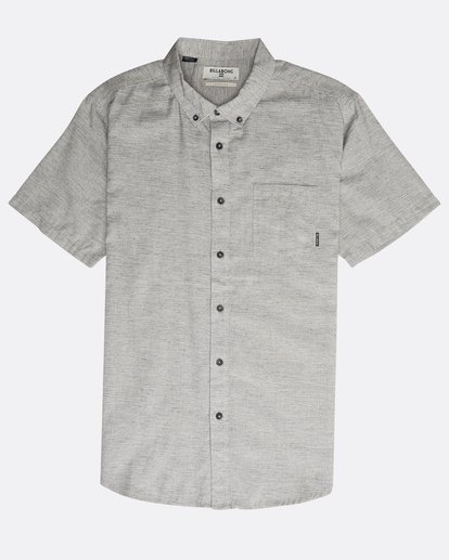 0 All Day Short Sleeve Shirt Grey N1SH05BIP9 Billabong