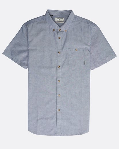 0 All Day Short Sleeve Shirt Blue N1SH05BIP9 Billabong