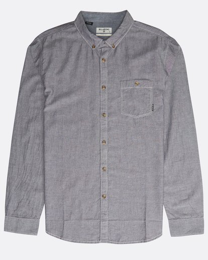 0 All Day Chambray Ls Grey N1SH09BIP9 Billabong