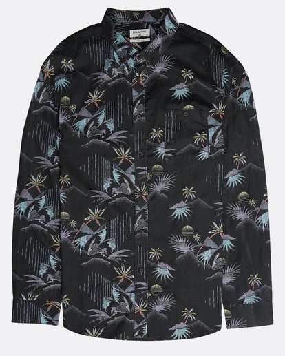 0 Sundays Floral Long Sleeve Shirt Negro N1SH13BIP9 Billabong