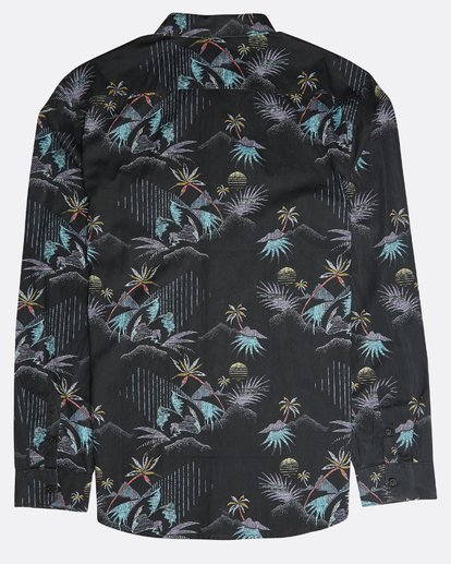 1 Sundays Floral Long Sleeve Shirt Black N1SH13BIP9 Billabong