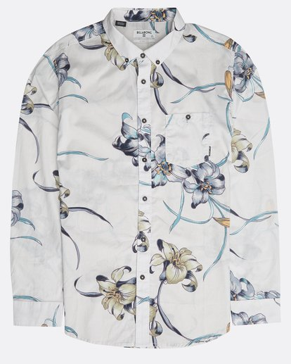 0 Sundays Floral Long Sleeve Shirt Beige N1SH13BIP9 Billabong