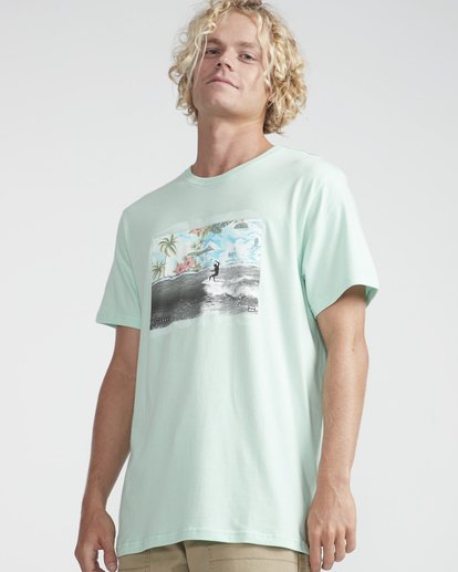 2 High Line T-Shirt Verde N1SS10BIP9 Billabong