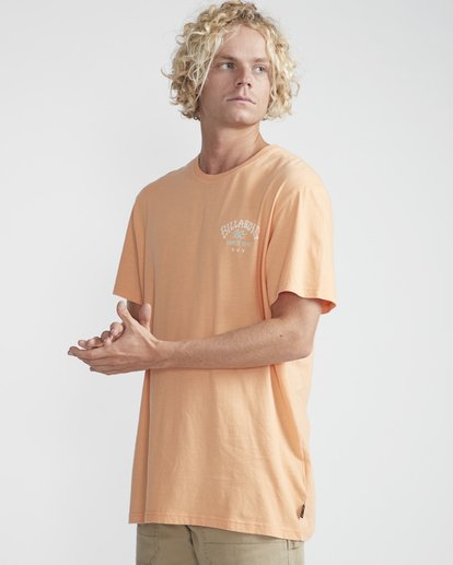 3 Get Back T-Shirt Orange N1SS14BIP9 Billabong