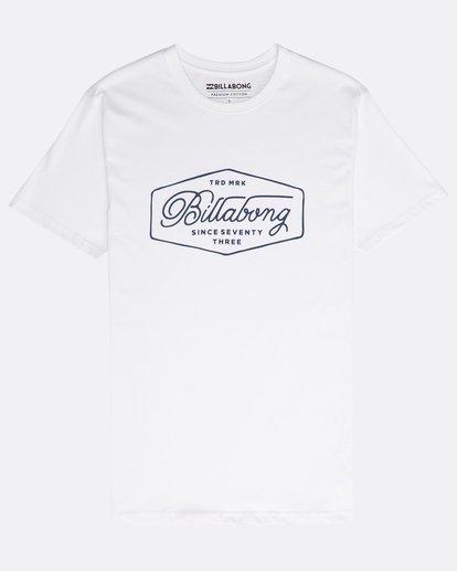 0 Trademark T-Shirt Blanco N1SS15BIP9 Billabong