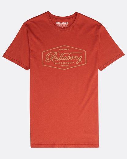 0 Trademark T-Shirt Rot N1SS15BIP9 Billabong