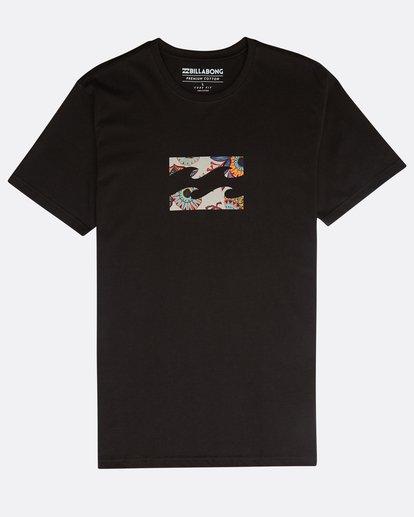 0 Team Wave Team T-Shirt Negro N1SS19BIP9 Billabong