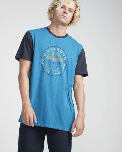 3 Rock Point T-Shirt Blue N1SS20BIP9 Billabong