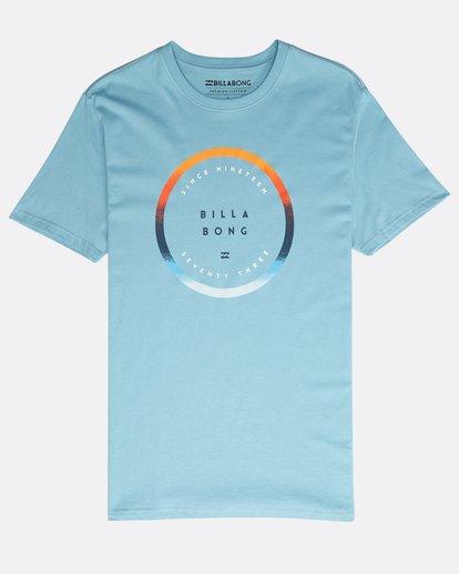 0 Rotated T-Shirt Blau N1SS21BIP9 Billabong