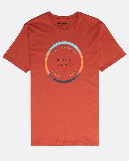 0 Rotated T-Shirt Rot N1SS21BIP9 Billabong