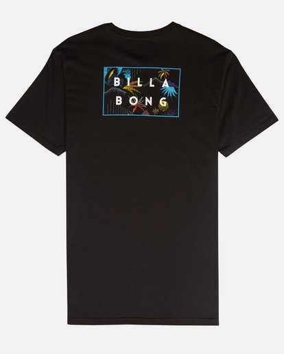 1 Die Cut Theme T-Shirt Schwarz N1SS23BIP9 Billabong